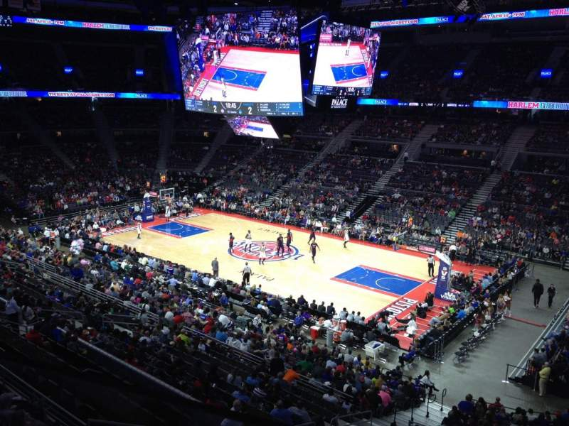 Seating view for The Palace of Auburn Hills Section 214 Row 1 Seat 4