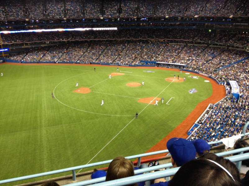 Seating view for Rogers Centre Section 537 Row 4 Seat 105