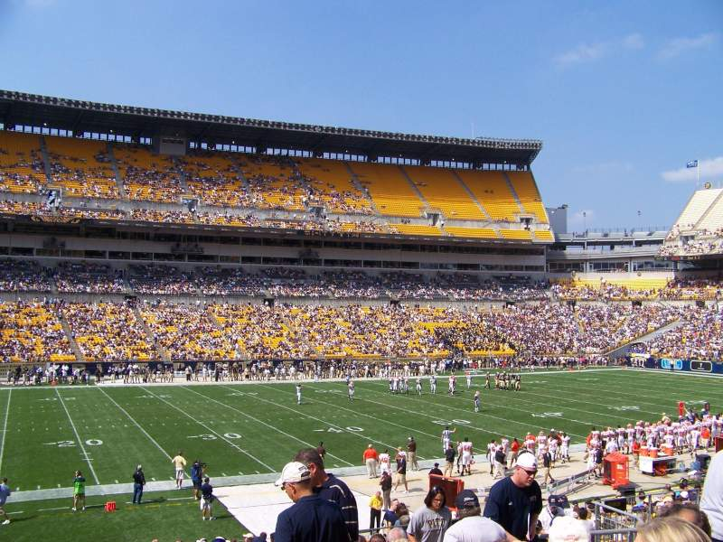 Seating view for Heinz Field Section 108 Row W Seat 9