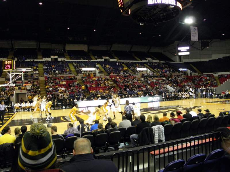 Seating view for UW-Milwaukee Panther Arena Section 210 Row 1 Seat 1