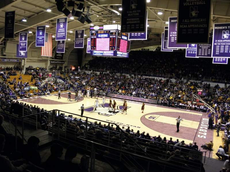 Seating view for Welsh-Ryan Arena Section 202 Row DD Seat 8