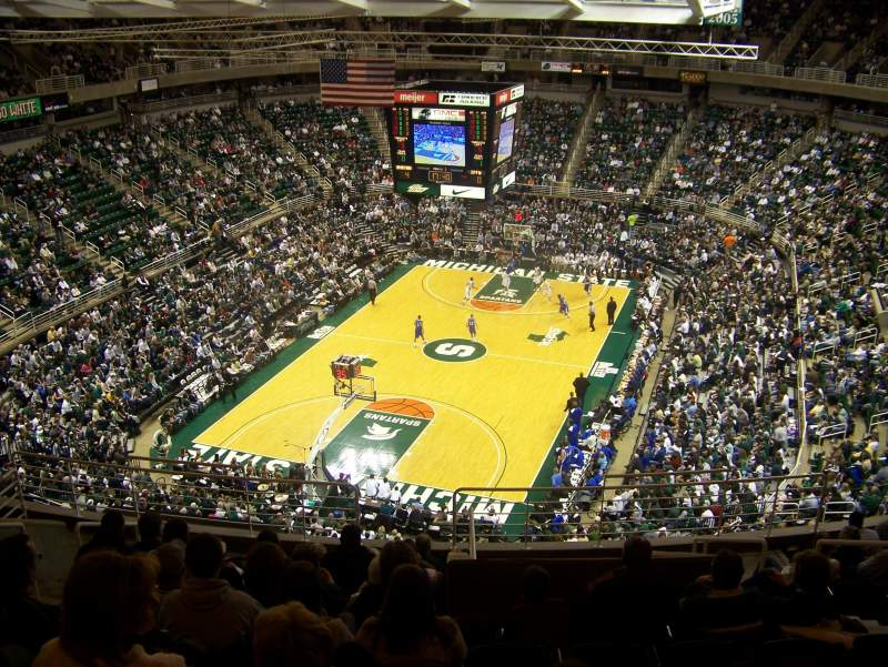Seating view for Breslin Center Section 217 Row 12 Seat 107
