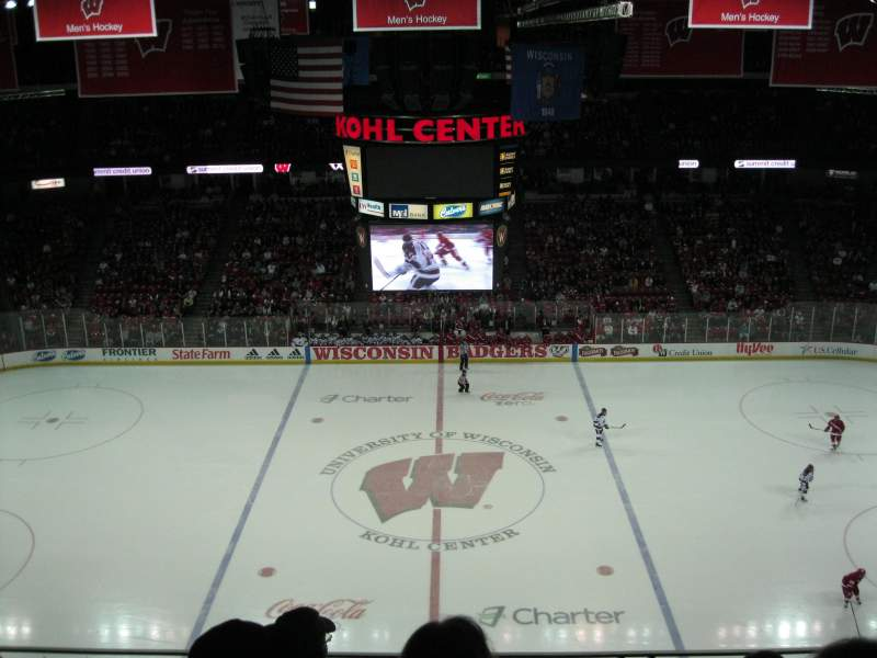 Seating view for Kohl Center Section 308 Row D Seat 6