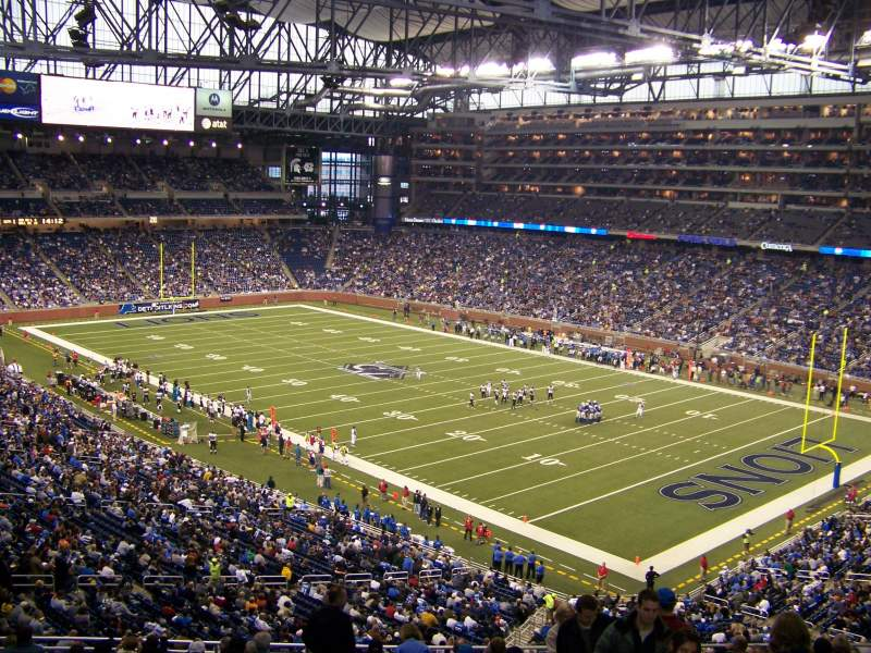 Seating view for Ford Field Section 112 Row 40 Seat 23