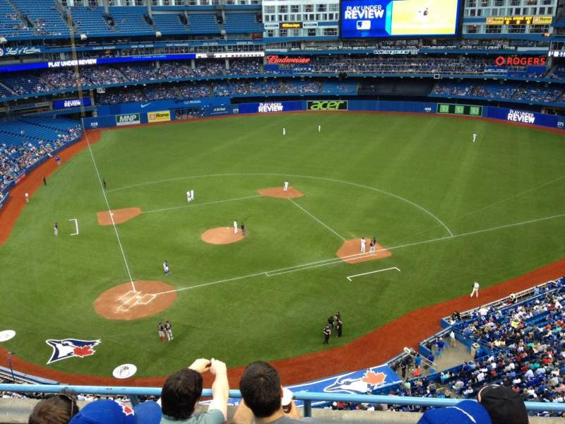 Seating view for Rogers Centre Section 522R Row 4 Seat 11