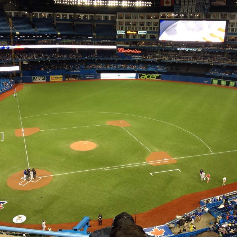 Seating view for Rogers Centre Section 521L Row 4 Seat 107