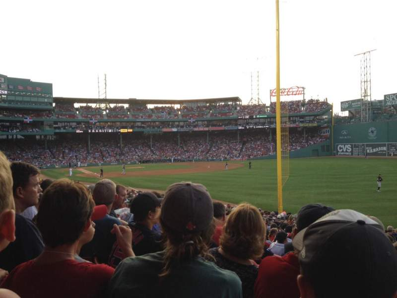 Seating view for Fenway Park Section Right Field Box 93 Row UU Seat 3