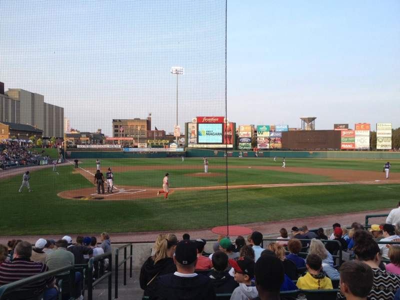 Seating view for Frontier Field Section 112 Row N Seat 1