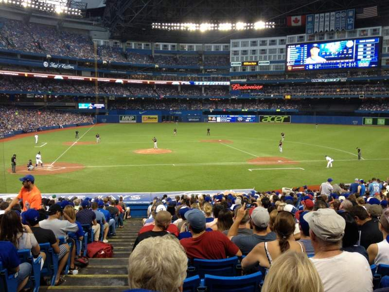 Seating view for Rogers Centre Section 118R Row 31 Seat 1