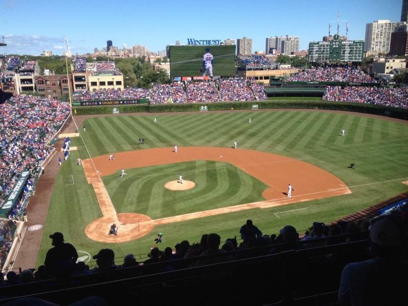 Seating view for Wrigley Field Section 421R Row 3 Seat 9