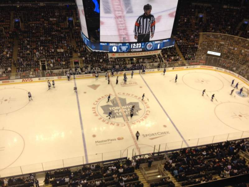 Seating view for Air Canada Centre Section Press Box