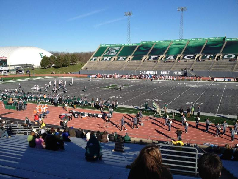 Seating view for Rynearson Stadium Section 107 Row BB Seat 1