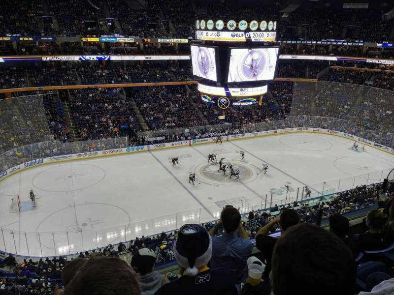 Seating view for KeyBank Center Section 322 Row 4 Seat 7