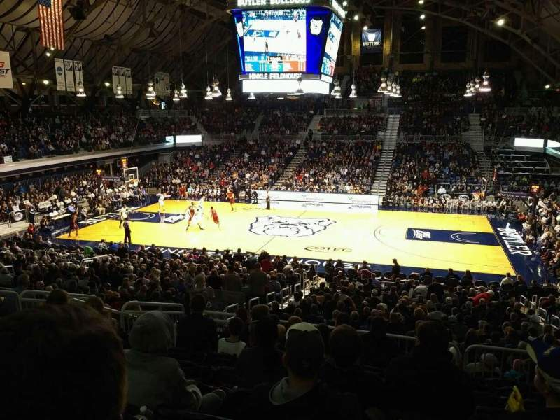 Seating view for Hinkle Fieldhouse Section 217 Row 9 Seat 7