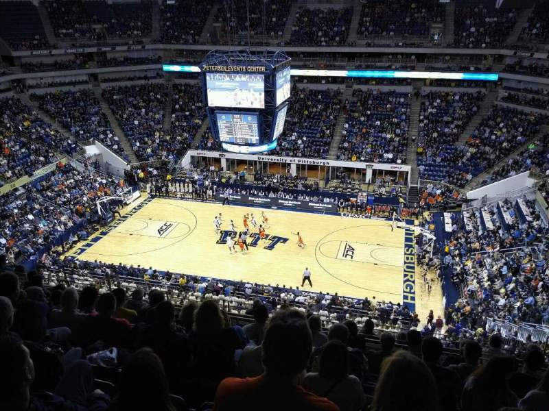 Seating view for Petersen Events Center Section 207 Row K Seat 9
