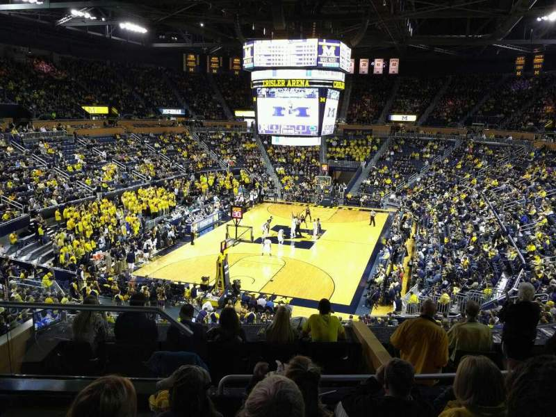 Seating view for Crisler Center Section 212 Row 26 Seat 9