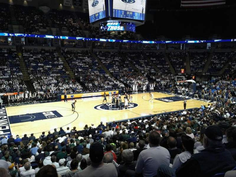 Seating view for Bryce Jordan Center Section 124 Row H Seat 109