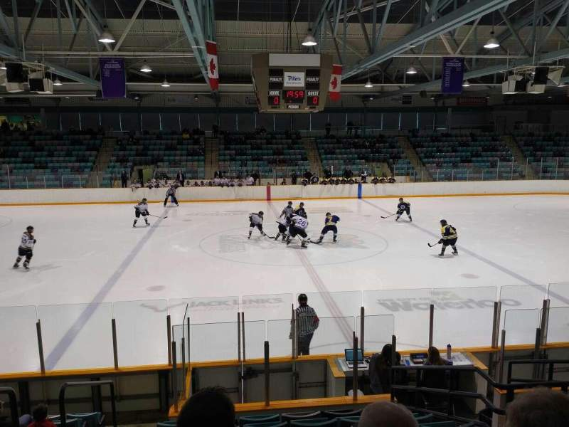 Seating view for Waterloo Memorial Recreation Complex Section R Row K Seat 15