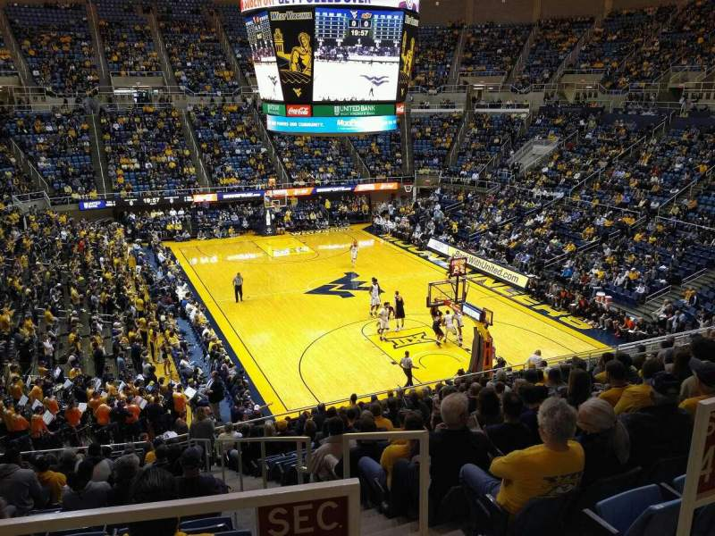 Seating view for WVU Coliseum Section 70 Row A Seat 3