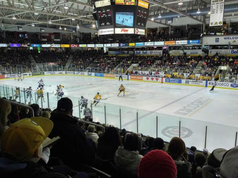 Seating view for Sarnia Sports & Entertainment Centre Section 105 Row 12 Seat 13