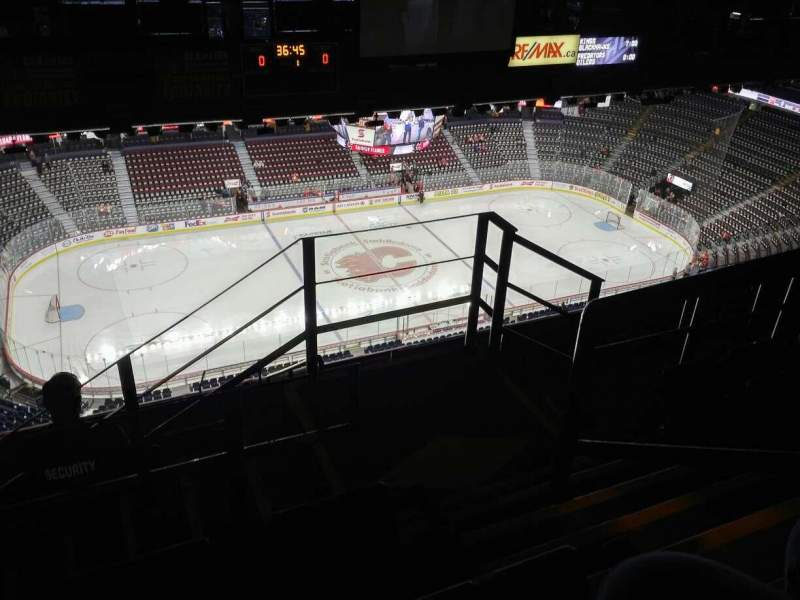 Seating view for Scotiabank Saddledome Section PL8 Row 7 Seat 16
