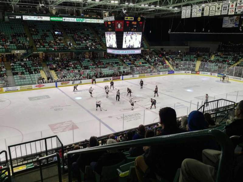 Seating view for Enmax Centrium Section XX Row 20 Seat 1