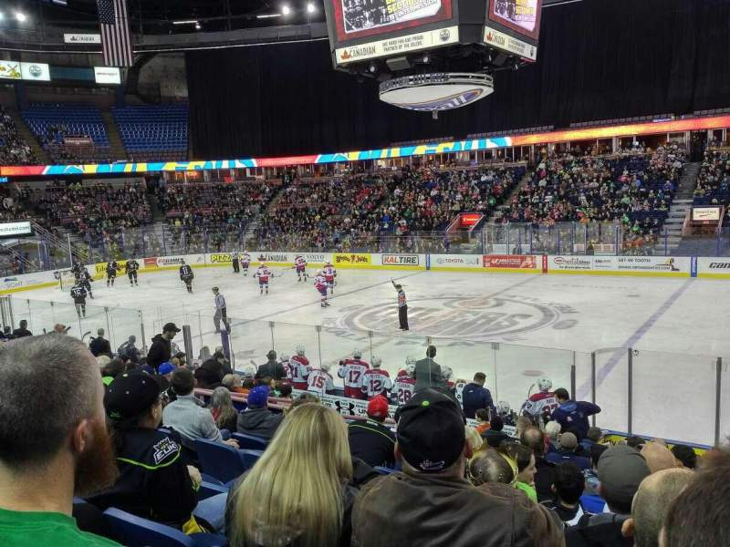 Seating view for Rexall Place Section 118 Row 14 Seat 10