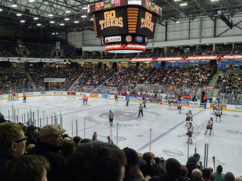 Seating view for Canalta Centre Section P Row 14 Seat 8