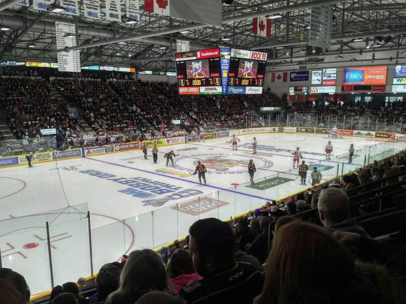 Seating view for Barrie Molson Centre Section 104 Row 13 Seat 6