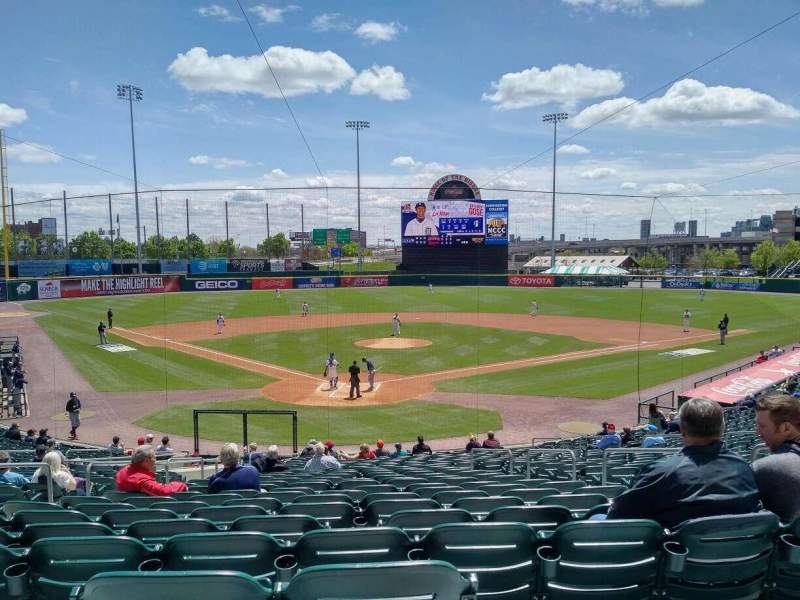Seating view for Coca-Cola Field Section 102 Row AA Seat 1