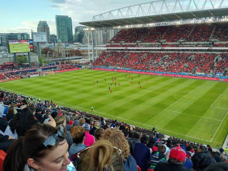 Seating view for BMO Field Section 219 Row 24 Seat 3