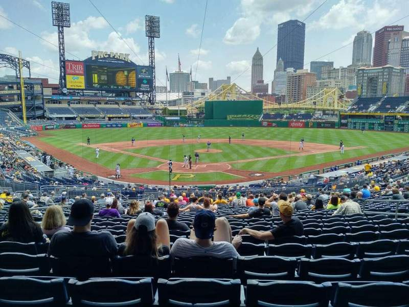 PNC Park, section: 115, row: AA, seat: 28