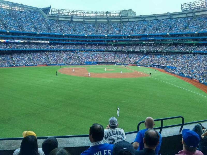 Seating view for Rogers Centre Section 242L Row 5 Seat 104