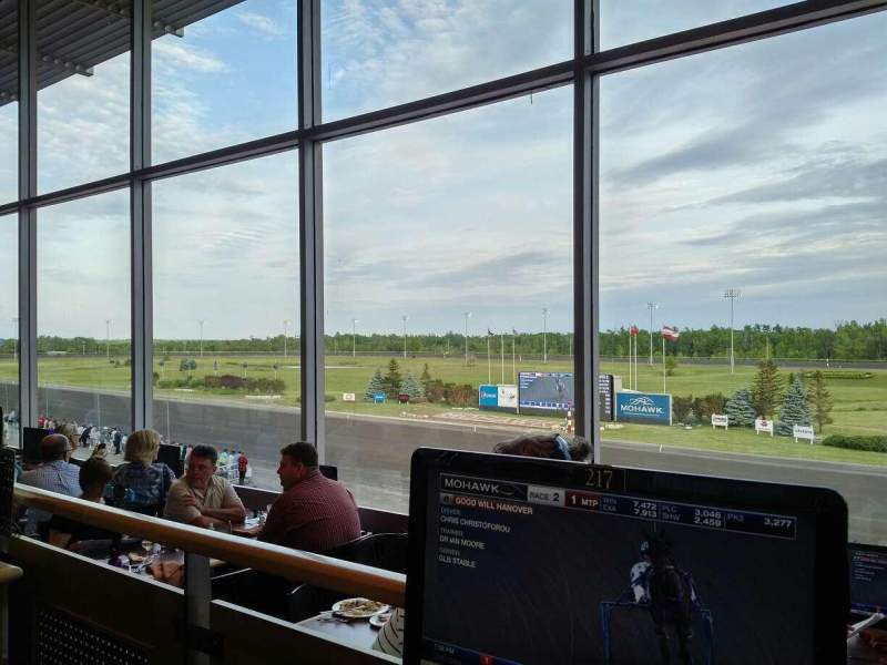 Seating view for Mohawk Racetrack Section Terrace Dining Room Row 2 Seat 217