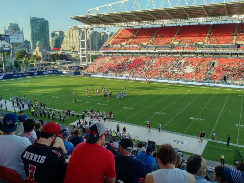 Seating view for BMO Field Section 221 Row 11 Seat 10