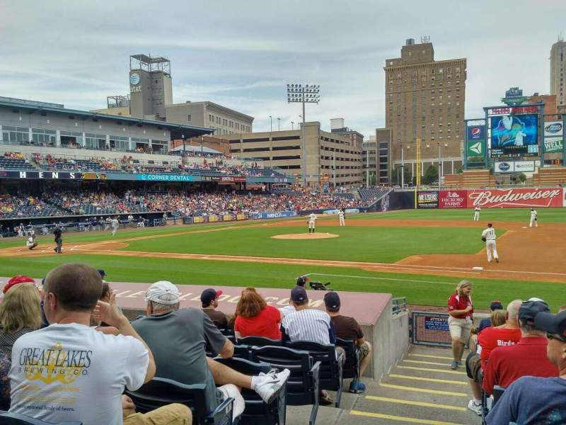 Seating view for Fifth Third Field Section 116 Row N Seat 21b