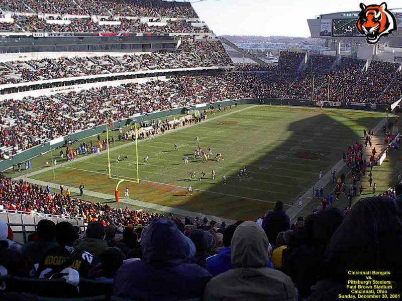 Seating view for Paul Brown Stadium Section 221 Row 26 Seat 3