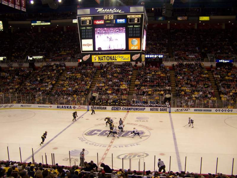 Seating view for Joe Louis Arena Section 207 Row 3 Seat 6
