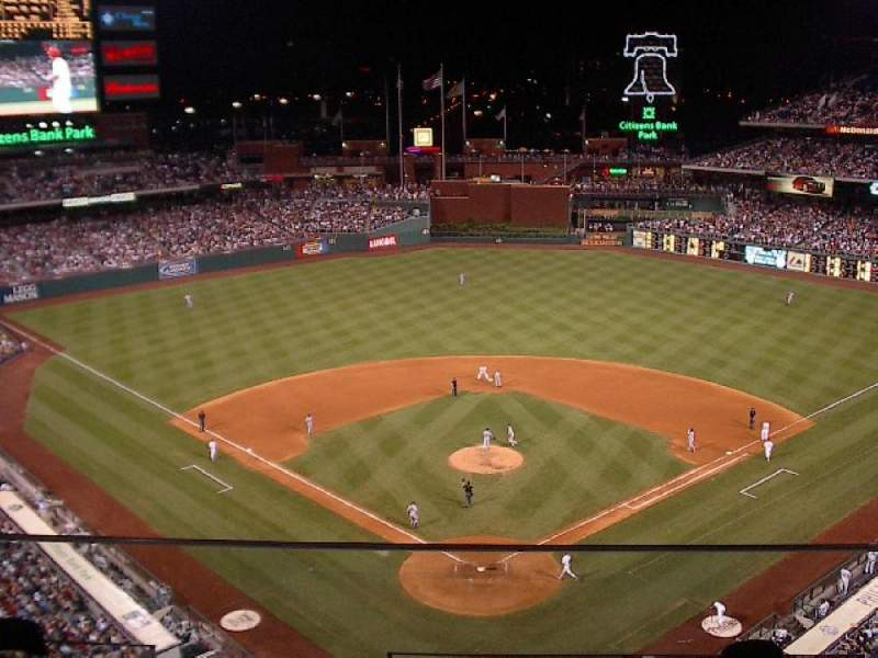 Seating view for Citizens Bank Park Section 420 Row 2 Seat 23