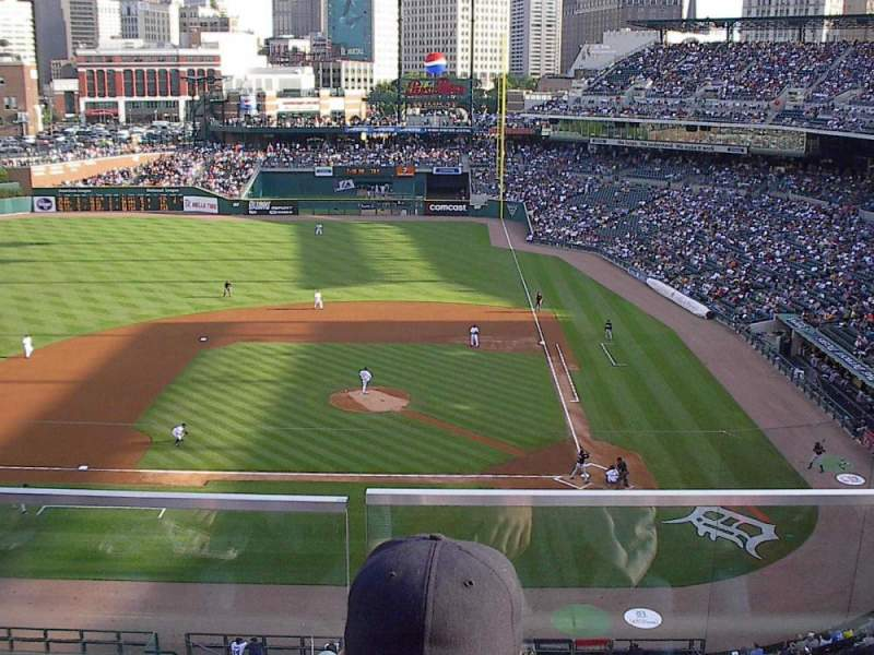 Seating view for Comerica Park Section 332 Row B Seat 10