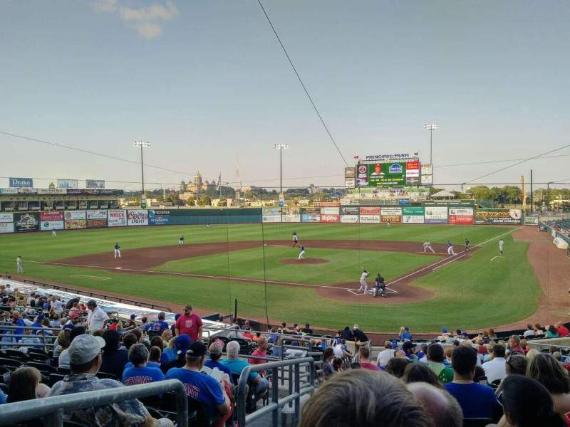 Seating view for Principal Park Section 9 Row 11 Seat 21
