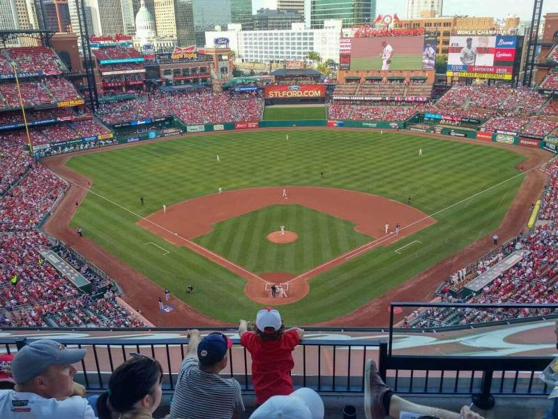Seating view for Busch Stadium Section 450 Row 7 Seat 2