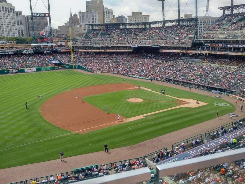 Seating view for Comerica Park Section 337 Row A Seat 14