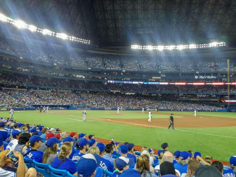 Seating view for Rogers Centre Section 113A Row 9 Seat 109
