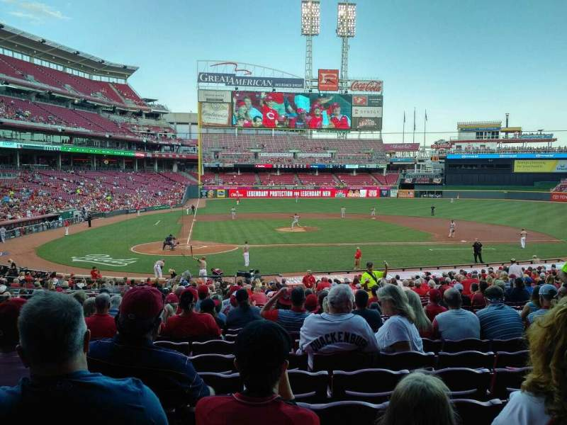 Seating view for Great American Ball Park Section 127 Row HH Seat 8
