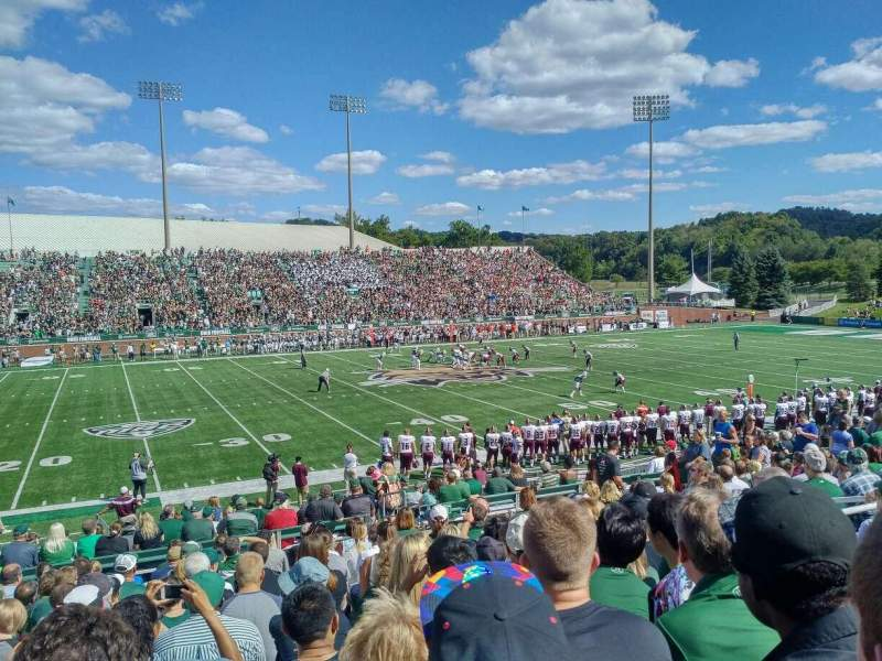 Seating view for Peden Stadium Section 106 Row 18 Seat 25