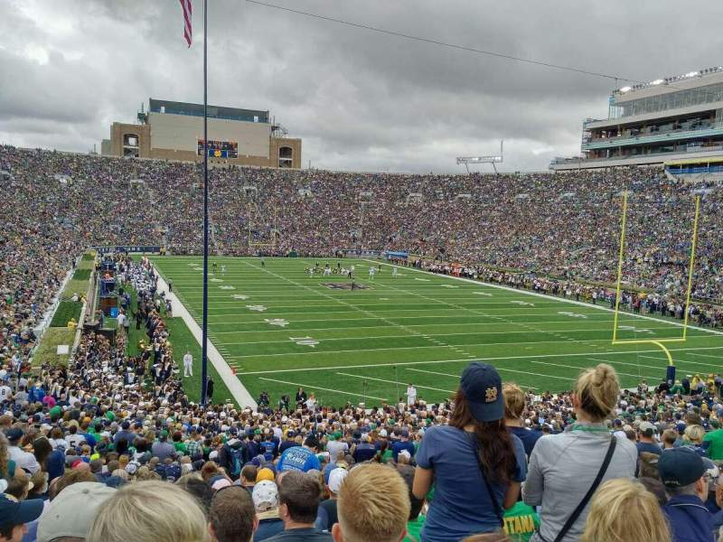 Seating view for Notre Dame Stadium Section 3 Row 40 Seat 9