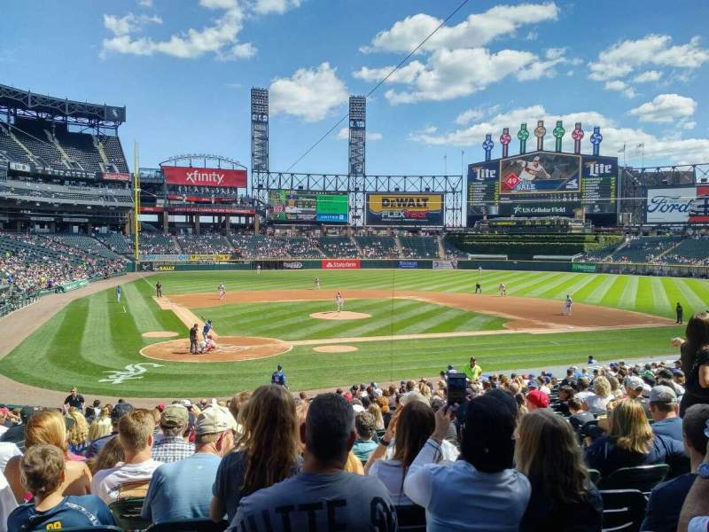 Seating view for Guaranteed Rate Field Section 129 Row 28 Seat 8