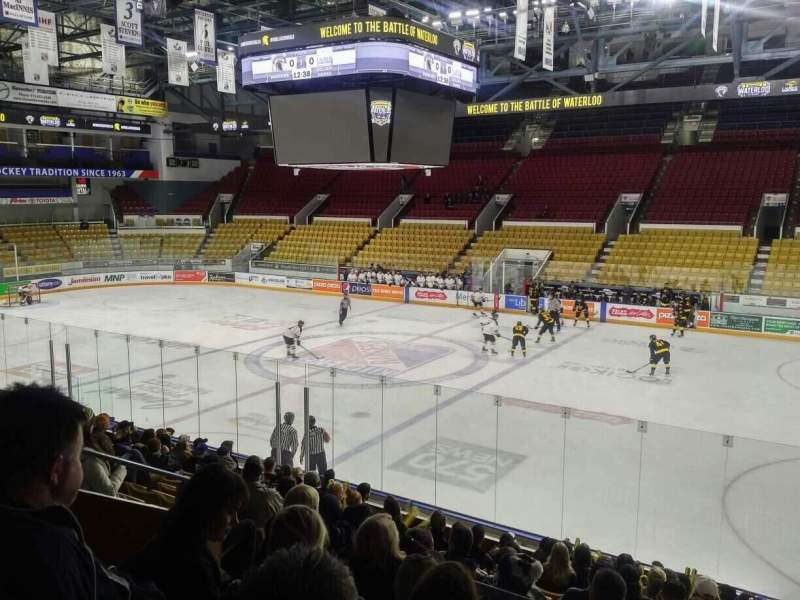 Seating view for Kitchener Memorial Auditorium Section 8 Row L Seat 8