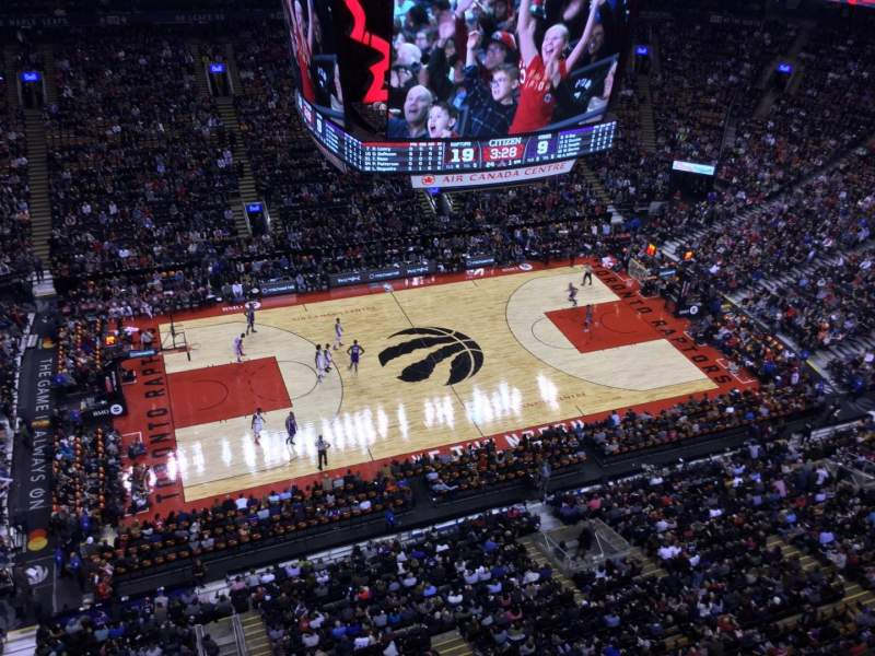 Seating view for Air Canada Centre Section Press Box Seat 30